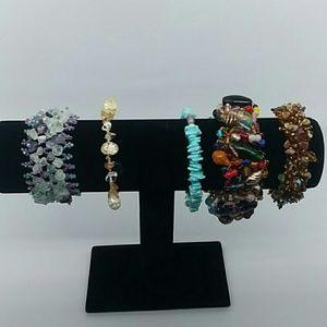 5 piece Gemstone bracelet bundle